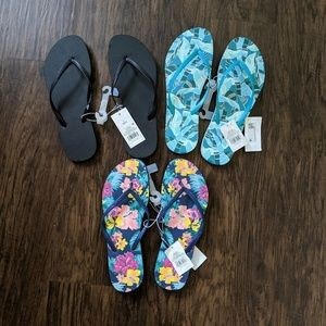 Mossimo Flip Flop Sandals Bundle of 3